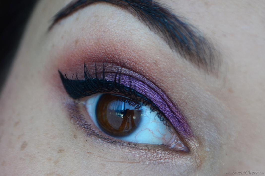 Purple and Brown Eye Makeup
