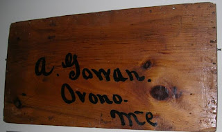 Wooden plank inscribed in ink