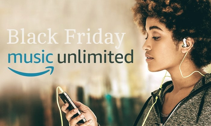 Black Friday 2017: offerta Amazon Music Unlimited 3 mesi