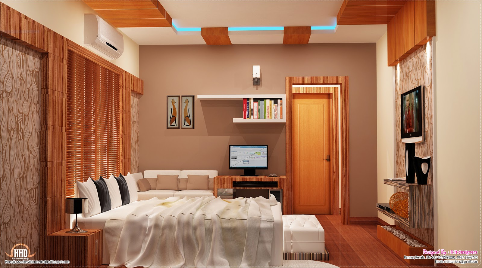 2700 sq.feet Kerala home with interior designs | House ... on House Interior Ideas  id=57067