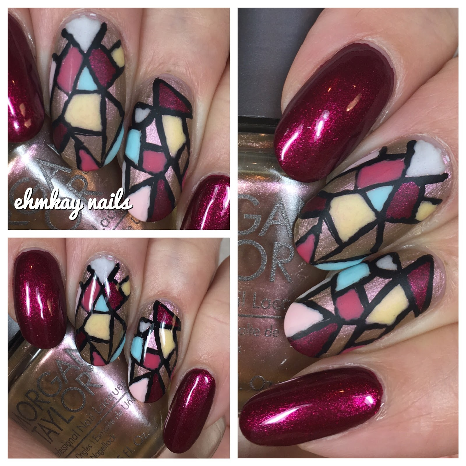 Stained Glass Nail Art: Ehmkay Nails: Morgan Taylor Beauty And The Beast Stained