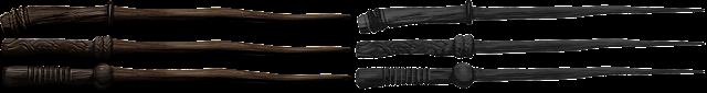 Bacchette di legno nero