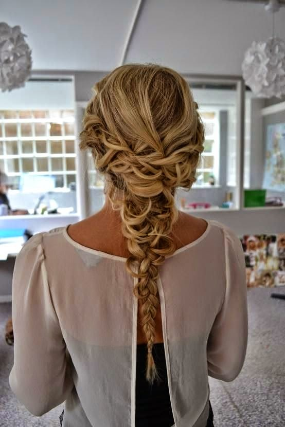 Gorgeous Long Blonde Braided Homecoming Hairstyle Homecoming Hairstyles 2015}