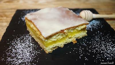 Ciasto z masą cytrynową i lukrem