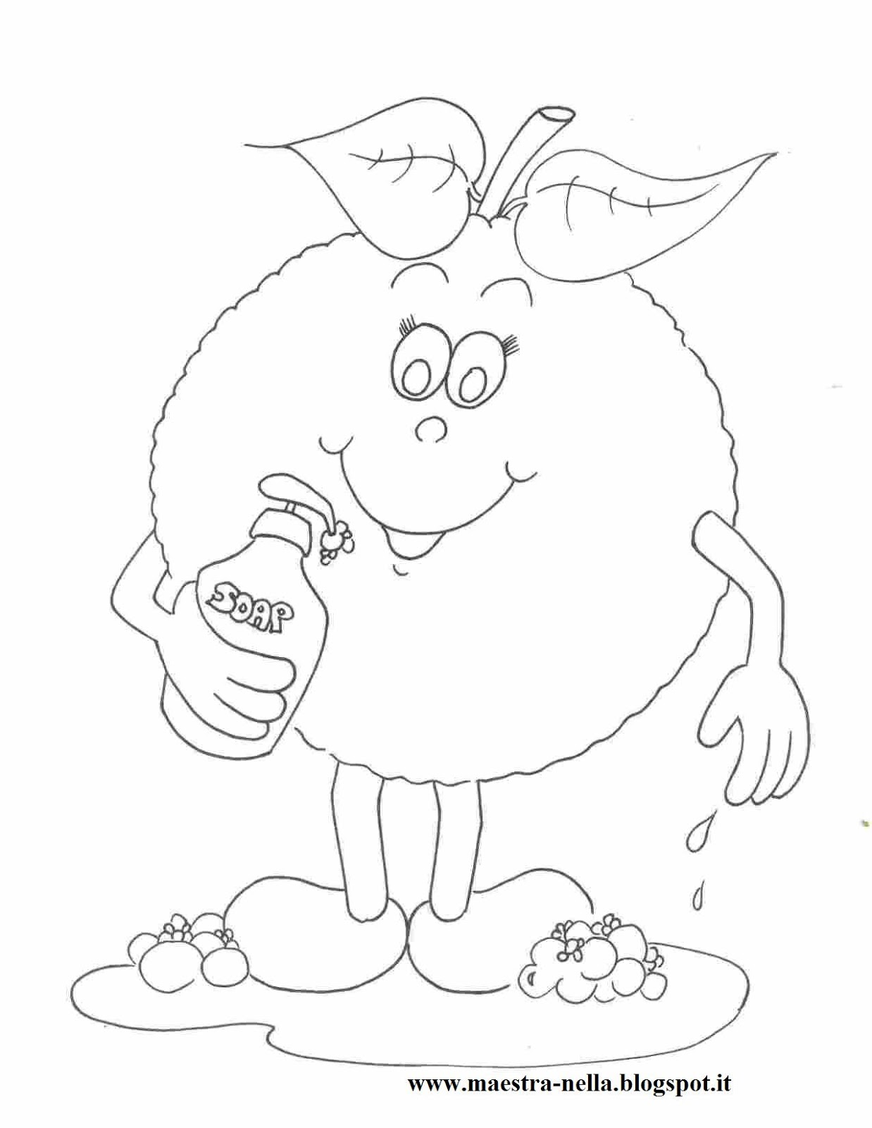 maestra Nella: frutta al bagno