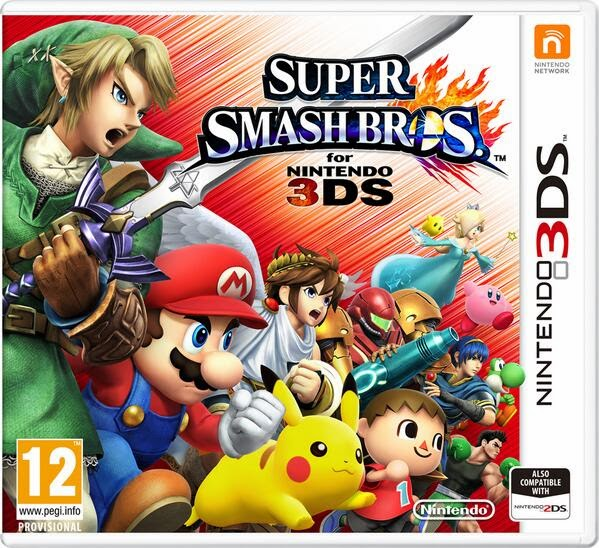 3DS Super Smash Bros. 3DS Cover