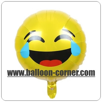 Balon Foil Emoji Face With Tears Of Joy / Foil Emoticon Face With Tears Of Joy