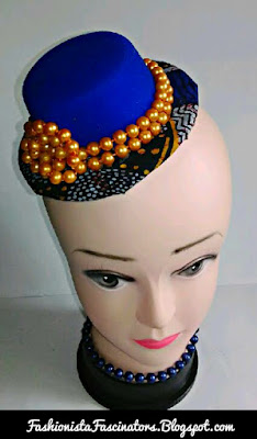Blue fascinators in Kenya