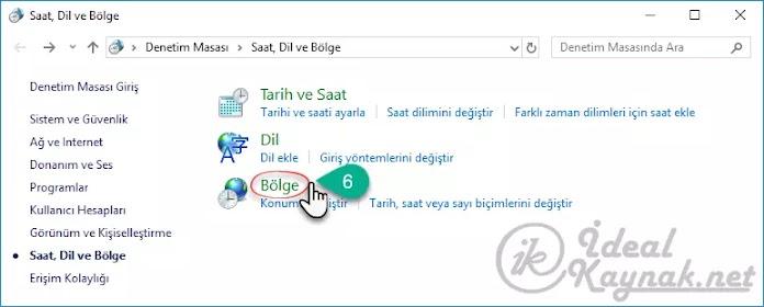 Windows 10 'da Varsayılan Dili Değiştirme