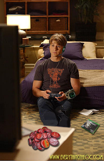 ryan atwood playing video games fallout pool house