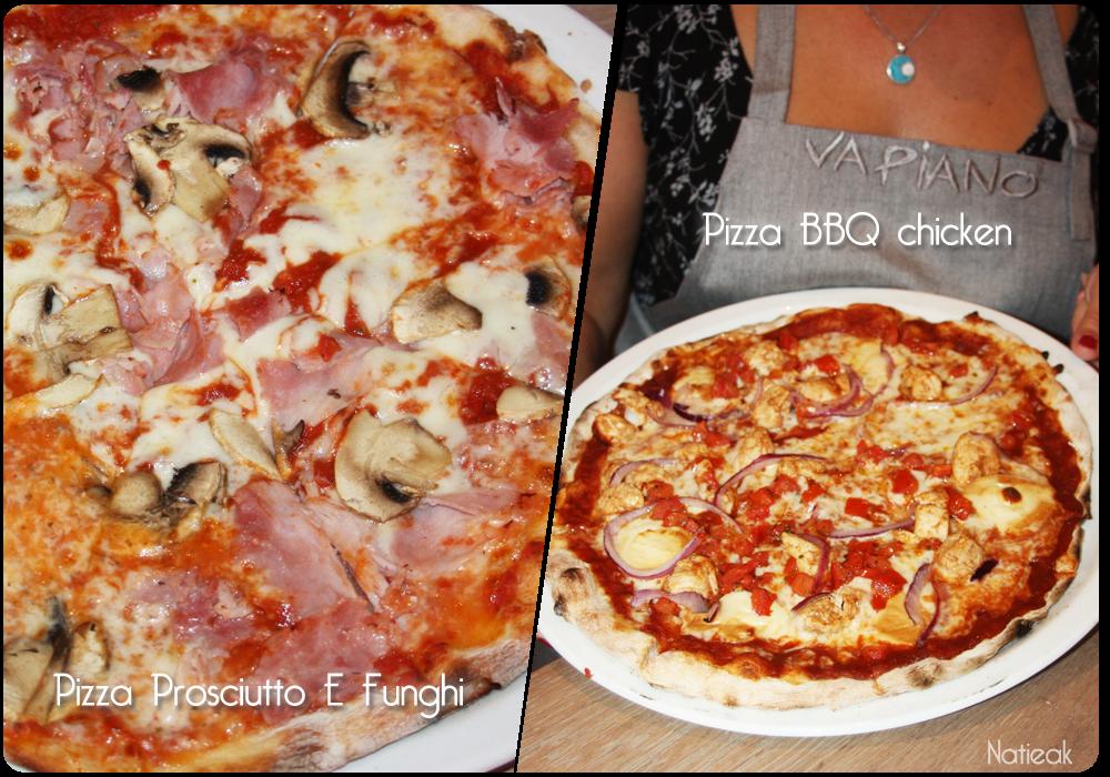 Pizza Prosciutto et BBC chicken  du Restaurant Vapiano
