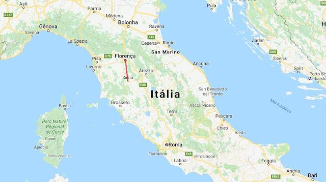 Viagem de trem de Florença a Siena