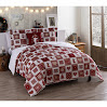 VCNY Holiday Patchwork Micro Mink 3-piece Comforter Set 4 Piece King