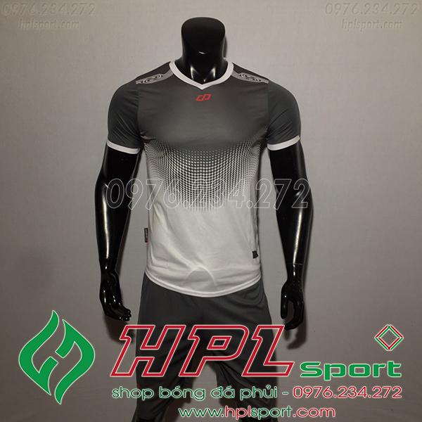Áo bóng đá không logo CP Hnet màu xám