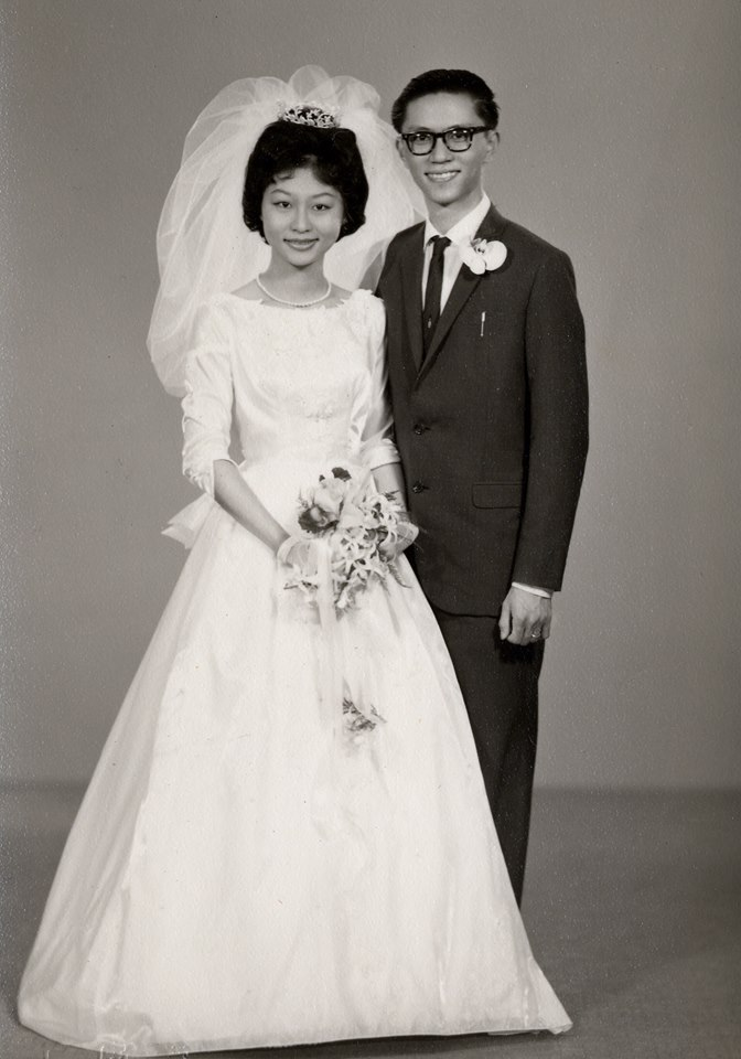 Mary and I celebrate our Golden Jubilee Wedding Anniversary today.