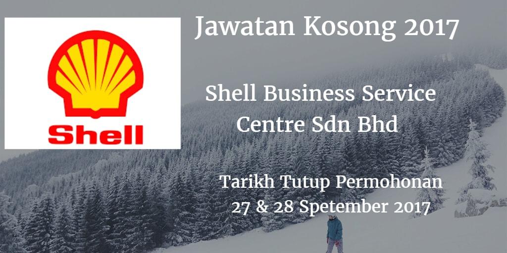 Jawatan Kosong Shell Business Service Centre Sdn Bhd 27 & 28 September 2017