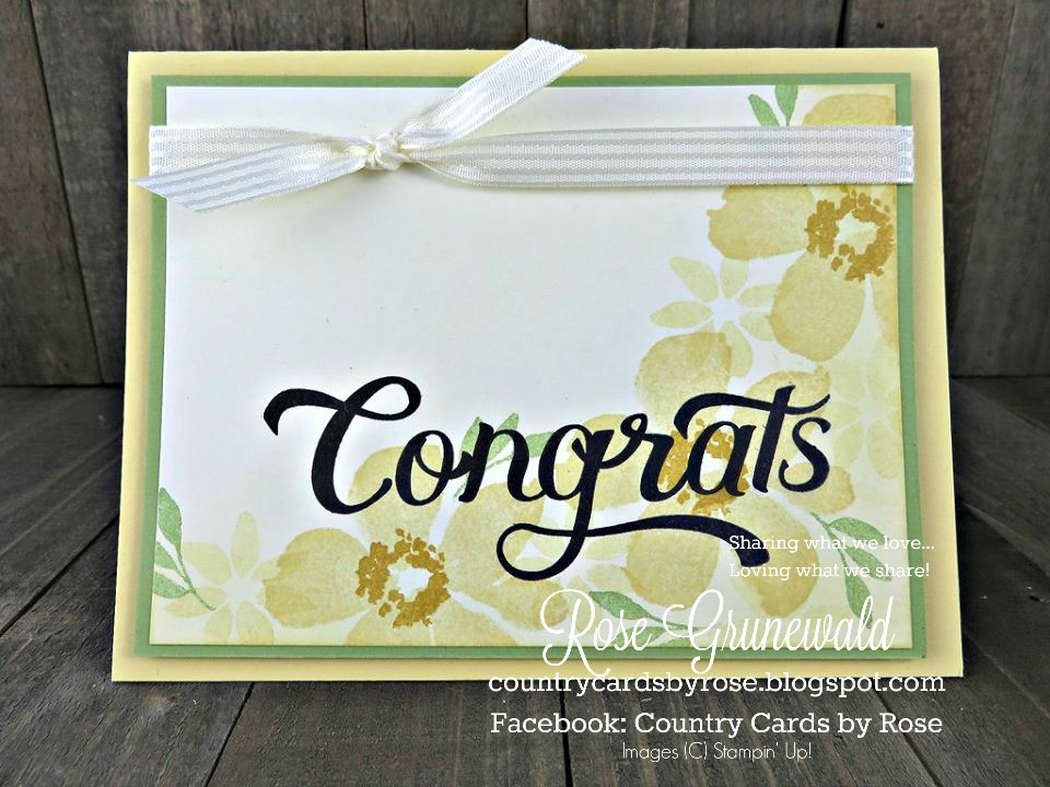 Country Cards by Rose Floral Congratulations