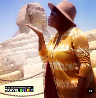 Ngozi, on a side trip to Egypt after her Arabic course in Jordan. Explore the World Travel Scholarship. HIUSA for Travel Boldly