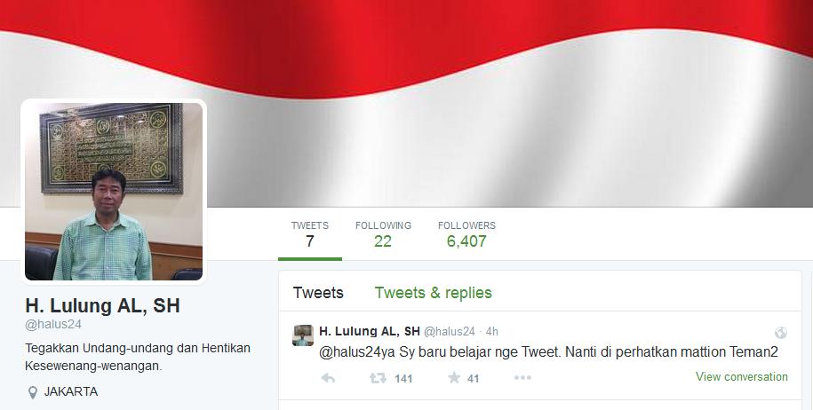 Twitter Haji Lulung