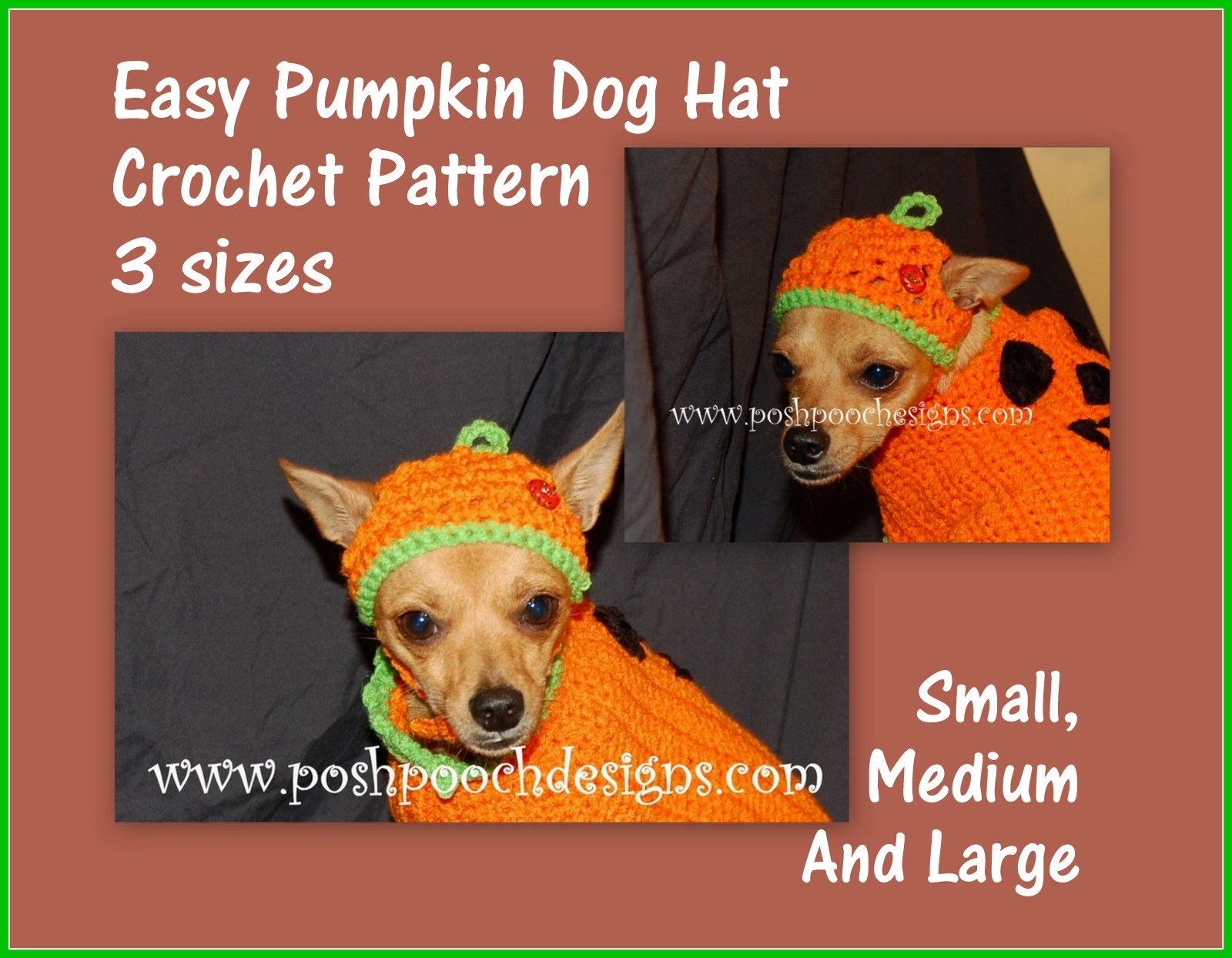 Posh Pooch Designs Dog Clothes  Dog Hat Crochet Patterns For Small ... 279137c7d1f