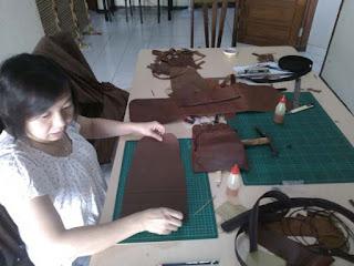 belajar bikin tas ransel wanita kulit