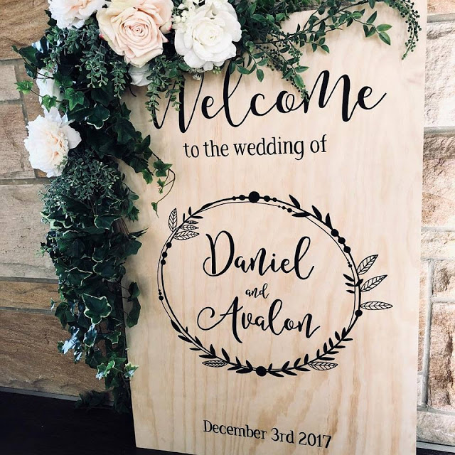 CUSTOM WEDDING SIGNAGE AUSTRALIA FRENCHS FOREST