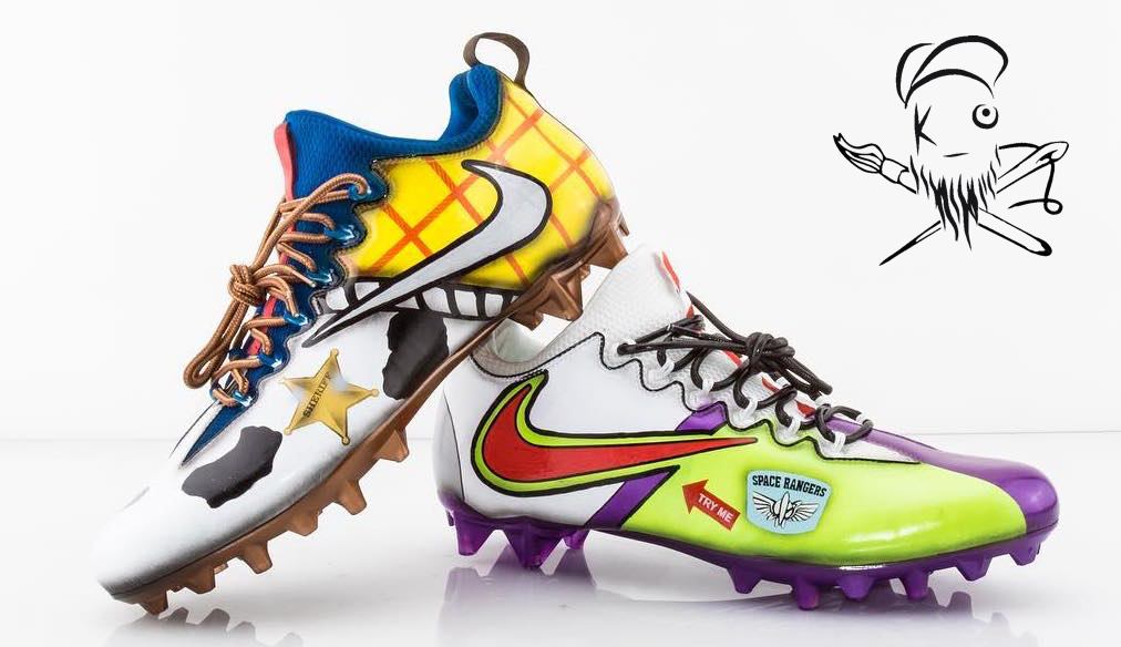 Odell Beckham Jr\'s Pro Bowl Custom \'Toy Story\' Football Cleats by ...