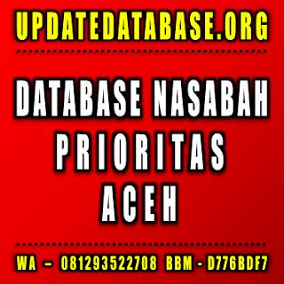 Jual Database Nasabah Aceh