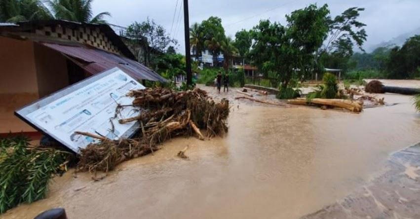 Colegios en peligro tras inundación en el centro poblado de Pampayacu - UGEL Tocache
