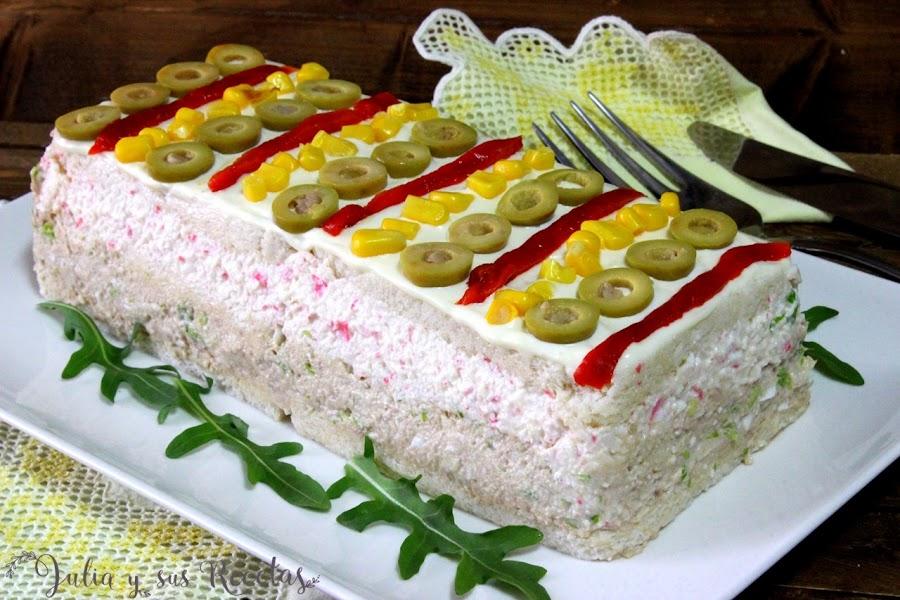Pastel frío de atún y surimi. Julia y sus recetas