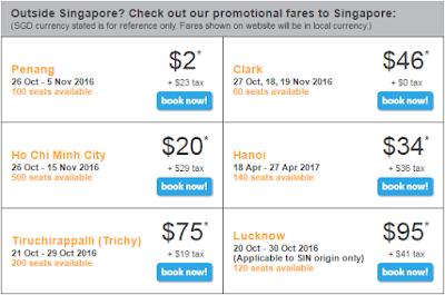 giá vé bay đến Singapore của tiger air
