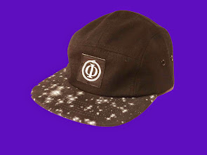 """Stars Above"" <br> Glow in the dark<br> 5 panel hat<br>by 1618AWAKE"