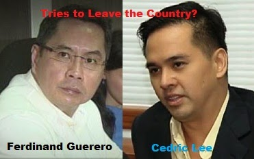 Ferdinand Guerero and Cedric Lee Tries to Leave the Country