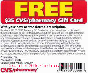 free Cvs Pharmacy coupons december 2016