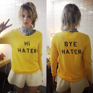 HI HATER BYE HATER yellow shirt. PYGear.com