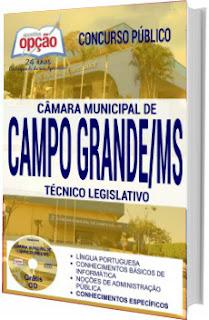 Apostila Câmara de Campo Grande 2017 - Técnico Legislativo