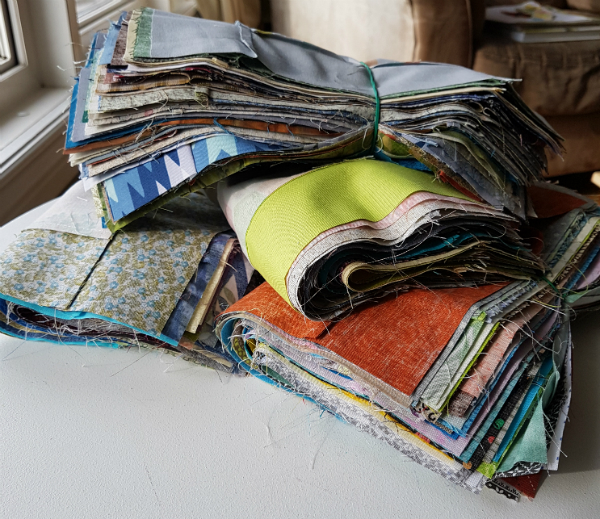 Bundles of 42 quilt blocks | DevotedQuilter.blogspot.com