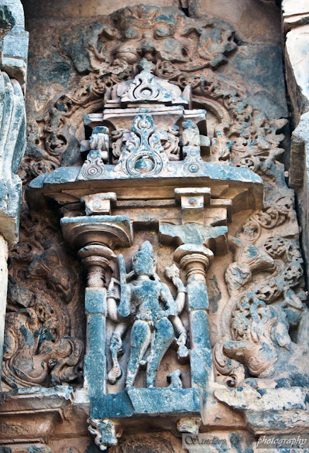 sculptures on the walls of the temple