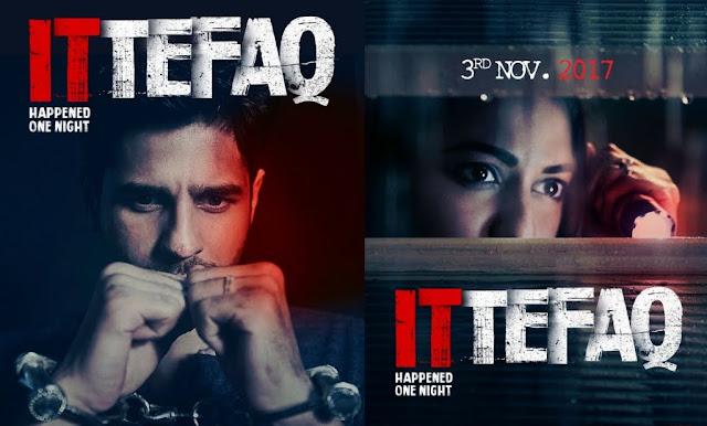 Ittefaq, Movie Poster, Sidharth Malhotra, Sonakshi Sinha