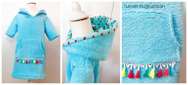 Strandkleid mit Kapuze aus Frottee nähen