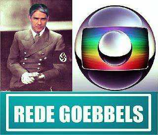 Policial DETONA William Bonner da Rede Goebbels de Televisão