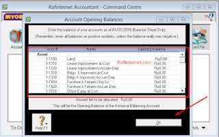 Cara membuat account opening balance di MYOB ~ Komputer akuntansi