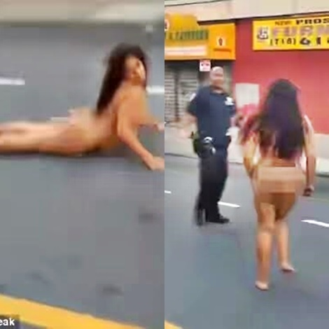 Drunk N*ked Lady Captured on Camera Twerking & Rolling in the Streets of NY (Photos & Video)