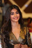 Pooja Hegde looks glamarous in deep neck sleevless short tight golden gown at Duvvada Jagannadham thank you meet function 130.JPG
