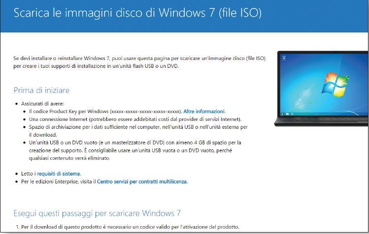 DVD Windows 7 non funziona: come scaricare la ISO gratis