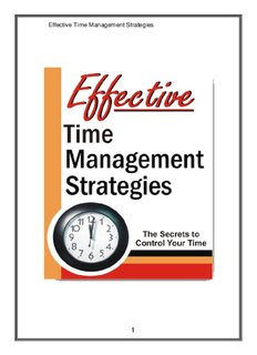 Effective Time Management Strategies Free Book