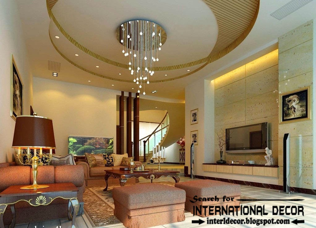 Best collection of plasterboard ceiling designs and drywall - Ceiling design for living room ...