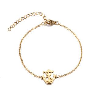 bracelet ancre or femme