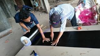 Carbon Fibre CFRP bahan perkuatan beton jembatan