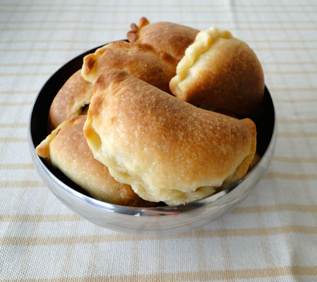 Mediterranean meat pies (sfeeha) in a bowl